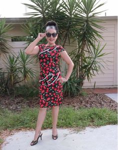 Beautiful Pin Up Bodycon Dress From Acevog | The Color Wheel Gallery