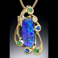 7c47f9d743c5 Boulder opal pendant Moonstone Jewelry