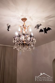Toilet paper roll bats are the perfect quick and easy Halloween decor!
