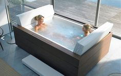 LOVE, LOVE, LOVE! Soaking Tub for Two People | For more information you can find a local distributor online at www ...