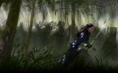 arwen art | forest the lord of the rings fantasy art elves female warriors arwen ...