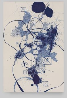 Asvirus 35 - 2012 ink on paper mounted to panel 18 x 12 in