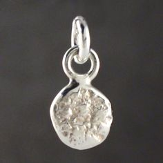 silver nugget charm - small by fi mehra