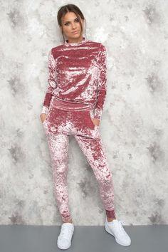 Smashed Velour Track Suit Lovi - Dirty Rose - Kläder