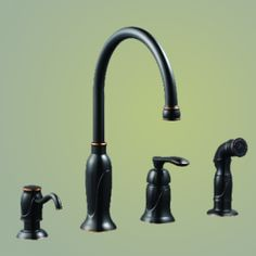 """Garret Faucet. Comes in Oil Rubbed Bronze and Satin Nickel.   Spout Height 8-31/6"""", Reach 8"""", Max Deck Thickness 2-1/2""""     http://myfinishingtouches.com/index.php?l=product_detail&p=1960"""
