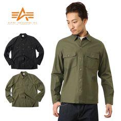 ALPHA アルファ TS5016 LS ミリタリーシャツ