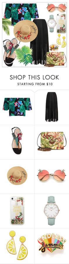 """walking by the beach at night"" by aminaax ❤ liked on Polyvore featuring New Look, FABIANA FILIPPI, Patricia Nash, Kate Spade, CLUSE, Celebrate Shop and ban.do"