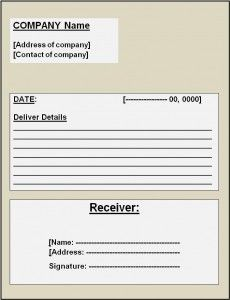 Delivery Receipt Template Invoice Template Word Free Receipt