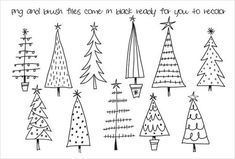 Hand Drawn Christmas Trees Clipart by Colors on Paper on Cre.- Hand Drawn Christmas Trees Clipart by Colors on Paper on Creative Market Hand Drawn Christmas Trees Clipart by Colors on Paper on Creative Market - Christmas Tree Clipart, Christmas Tree Drawing, Wooden Christmas Decorations, Christmas Doodles, Christmas Art, Christmas Projects, Holiday Crafts, Christmas Ornaments, How To Draw Christmas Tree