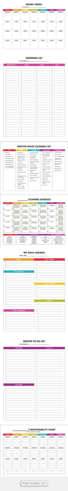 Complete Housekeeping Printable Set! | Visual reminders and supports for daily…