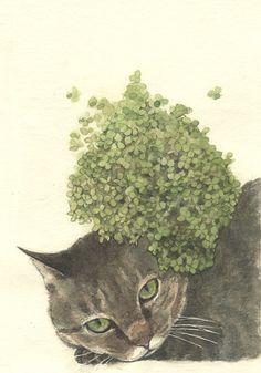 imposible esconderse, ilustración de Midori Yamada