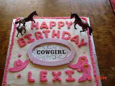 Cowgirl Birthday Cake
