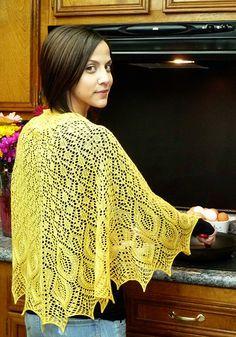 free shawl knit lace pattern wrap