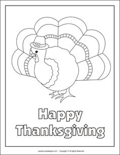Free Thanksgiving coloring pages - turkey coloring pages - Fall coloring sheets