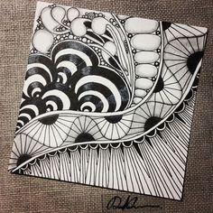 Zentangle 053016. #zentangle #zendoodle #doodleart #doodle #drawing #draw #art #artwork #sketchbook #sketch #blackandwhite #zentangleart #zenart #learnzentangle #zentangleinspiration #tangle #hearttangles