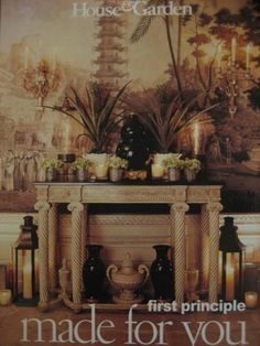 This incredible entry is from the New York home of Howard Slatkin. These photos were taken by Pieter Estersohn and are from the article by Cynthia Frank - House & Garden Sept. 1999.