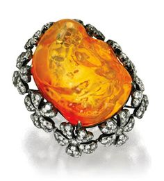 18 karat blackened gold, fire opal and diamond ring by Sifen Chang. 18 karat blackened gold, jelly fire opal, and diamond ring by Si. Wallace Chan, International Jewelry, Opal Jewelry, Amber Jewelry, Turquoise Jewelry, Unique Jewelry, Royal Jewels, Fantasy Jewelry, Opal Rings