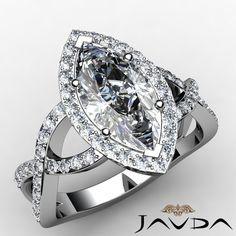 Marquise Diamond Engagement GIA H VS2 14k w Gold Split Curve Shank Ring 1 75 Ct   eBay