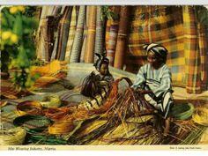 Mat Weaving,  Nigeria | c1960s | photo by John Hinde | johnhindecollection.com