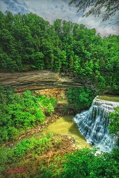 Burgess Falls is really three water falls, namely upper, middle and lower. This is the lower and highest of the three falls. This photo was taken from the falls overlook with a Tokina lens. Burgess Falls, Tennessee, Trail, Waterfall, Hiking, Thing 1, River, Places, Outdoor