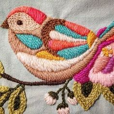 Brazilian embroidery for inexperienced people Brazilian embroidery In Mounette: The robin treeIn Mounette: The robin tree, the Mounette Robble ideas for blue bird ideas for Blue Bird Embroidery embroidery birdBrazilian embroidery for the Embroidered Bird, Crewel Embroidery, Hand Embroidery Patterns, Ribbon Embroidery, Cross Stitch Embroidery, Machine Embroidery, Brazilian Embroidery, Embroidery Techniques, Needlework