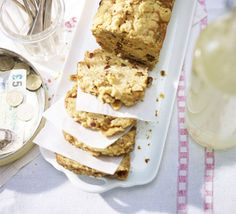 Apple crumble loaf - A rustic fruit crumble cake with raisins and spice and a crunchy nutty topping - a spin on a classic