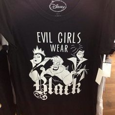 """disneytasthic: """"disneylifestylers: """"New Disney Villains tee from """" I must be evil then lol """""""