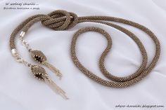 W wolnej chwili . Crochet Necklace, Beaded Necklace, Bead Crochet Rope, Beaded Embroidery, Beaded Jewelry, Fashion Accessories, Jewelry Making, Bling, Bracelets