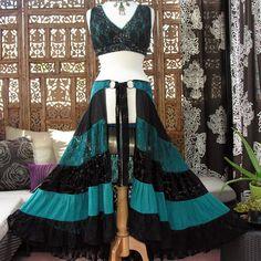Scarlet's Lounge Belly Dance Apparel / Multi-tier Boudior Lace Hipskirt