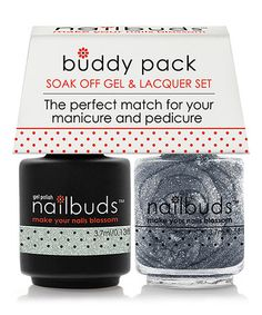 Silver Dust Gel Polish & Nail Lacquer Buddy Pack #zulily #zulilyfinds