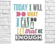 Inspiring Quote Maze Art Encouragement Gift Depression Print