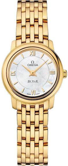 8ee369fb5c7 Đồng hồ Omega DeVille vàng vàng Prestige 424.50.24.60.05.001