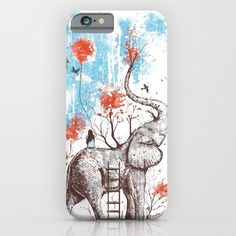 Such a beautiful and whimsical design. Absolutely love it ... girl on an elephant surrounded by nature. https://society6.com/product/a-happy-place-r7_iphone-case?curator=lieslmarelli