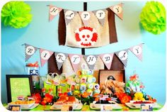 Pirate Fairy themed birthday party via Kara's Party Ideas KarasPartyIdeas.com Printables, cake, cupcakes, favors, games, and more! #fairyparty #tinkerbell #tinkerbellparty #pirateparty (8)