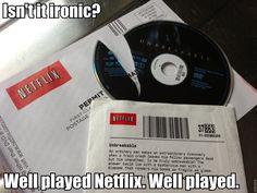 Isn't it ironic?  Unbreakable broken.  Well played Netflix, well played!