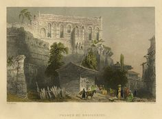 Turkey, Constantinople, Palace of Belisarius, 1850