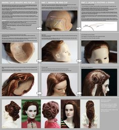 Making lace realistic wig for BJD by scargeear on deviantART