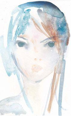 watercolor portrait print by rochelle31 on Etsy