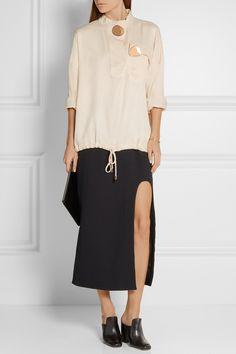 Opening Ceremony | Juniper embellished satin-twill blouse | NET-A-PORTER.COM