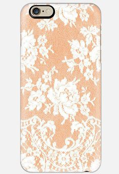 iPhone 6 Case Melon Colored Lace iPhone 6 by cellcasebythatsnancy Cute Iphone 6 Cases, Phone Cases, Teal, Lace, Floral, Gifts, Anthropologie, Samsung Galaxy, Colorful