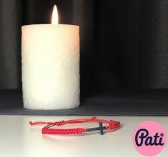 Handmade bracelet with a cross. Ankle Bracelets, Jewelry Bracelets, Handmade Bracelets, Sterling Silver Bracelets, Pillar Candles, Candles