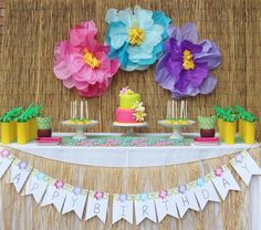 Hawaiian themed 2nd birthday party via Kara's Party Ideas | KarasPartyIdeas.com (10)