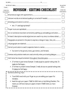 Printables Editing And Revising Worksheets english need to and writing assignments on pinterest awesome engaging common core aligned revisionediting partner checklist for fiction grades 3