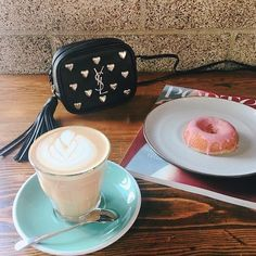 Donut know, donut care, it's Friday.    #kotytostylelab Mother Daughter Necklace, Sister Necklace, Minimalist Earrings, Luxury Jewelry, Donuts, Plus Size Fashion, Latte, Friday, Tableware