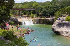 Tonkawa Falls (crawford,tx) -- When people talk about swimming holes in the summer, many of them forget about this wonderful hidden gem in Crawford. With a waterfall, beautiful clear water, and rocks to jump off of, you can't find a much better place to spend summer than this.