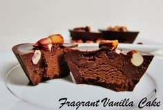 Raw Double Chocolate Peanut Butter Cups from Fragrant Vanilla Cake