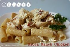 Skinny Slow Cooker Bacon Ranch Chicken