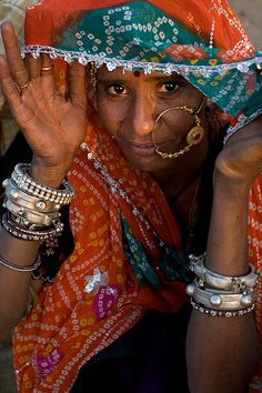 Woman from Rajasthan - Pushkar, Rajasthan