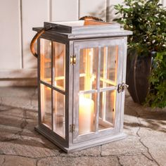 Fill you backyard or cottage patio with flickering candlelight with a Sasha Candle Holder. Large door makes it easy to replace and light your candle.