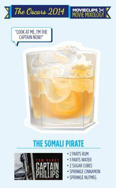 "Movie Mixology: Oscar Edition - ""The Somali Pirate"" Cocktail"